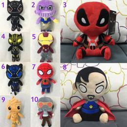 $enCountryForm.capitalKeyWord Australia - 20CM(8inch) Avengers 3 Infinity War plush dolls 2018 New kids Thanos Iron Man spiderman deadpool 2 doctor Strange Black Panther toys B