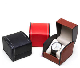 Leather Watch Square For Men UK - Newest Luxury Watch Boxes PU Leather watch Cases For Woman Men Watches Boxes Papers Gift Logo