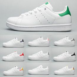 outlet store e0204 61ad9 Stan Brand men women shoes fashion smith sneakers classic stripe Green Gold  White Casual shoes leather sport flats Women shoes