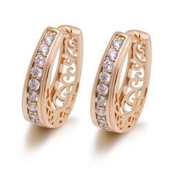 $enCountryForm.capitalKeyWord UK - MGFam (385E) Oval New Hollow Style Hoop Earrings For Women Fashion Jewelry 18k Gold Plated Zircon Good Quality