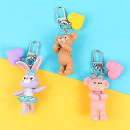 $enCountryForm.capitalKeyWord Australia - 2019 New Arrival 3D rabbit cub Keychain Ring for Women Girl Kids Keychain Holder Cartoon Doll Figure Car Craft Gifts