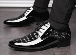 $enCountryForm.capitalKeyWord Australia - New arrival Fashion Trend Men's Business leather shoes Wedding Dress Shoes Flats Casual Shoes Men Oxfords dm89
