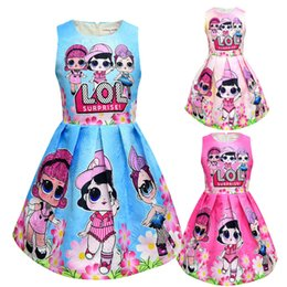 Toy Clothing Australia - T shirt Short Skirt Set New Cartoon Girls Short sleeve Stage Suit Party Dress Summer Children's Wear Kids Outwear Top Girl's Clothing 87056