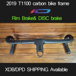 Road Bike Racing Handlebars Canada - 2019 T1100 taiwan made 60 colors carbon road disc&rim bicycle bike frame racing bike frame handlebar with logo XDB available