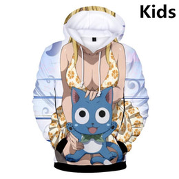 kids boys jacket Canada - 3 To 14 Years Kids Hoodies Fairy Tail 3D Men Women Hoodie Sweatshirt Boys Girls Long Sleeve Cartoon Jacket Coat Children Clothes