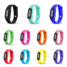 Wrist Band Pedometer Australia - Newest Wrist Sport Watch band Pedometer Run Step Distance Calorie Counter Fitness Gauge Step Tracker Digital LCD Pedometer