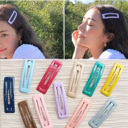 UniqUe hair clips online shopping - Cute Glitter Hairpins Snap Hair Clip for Girls Hair Pins Unique Women s Gift BB Clip Candy Color Accessories Dropship