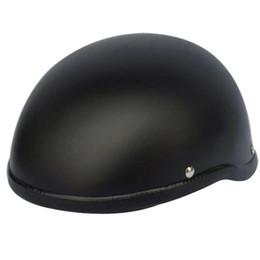 Motorcycle Half Helmets Sale NZ - 2018 Hot sale WWII Motorcycle Helmet vintage Half Face Helmet Retro German Chopper Cruiser Matte Black helmets