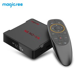 Android quAd core Air mouse online shopping - MAGICSEE N5 NOVA Android TV Box Qoad Core Voice bit CPU Remote With Air Mouse GB GB Dual Band WiFi BT4 K Set Top Box