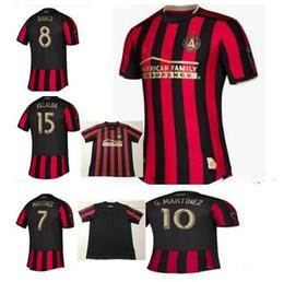 78c7adfe4 19 20 Men Atlanta United Red White 2019 2020 MLS Custom team Jersey Escobar  Martínez Almiron villalba football shirt uniform top