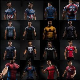 $enCountryForm.capitalKeyWord Australia - Free Shipping Short Sleeve 3D T Shirt Men T-Shirt Male Crossfit Tee Captain America t shirt Men Fitness Compression Shirt 4XL J20