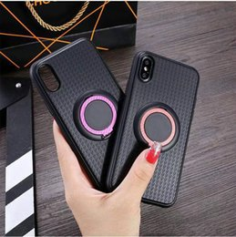 Magnets Uses Australia - Silicon Protective Case for iphoneXS MAX 8 XR 7plus three-in-one with ring bracket cover magnet car use case