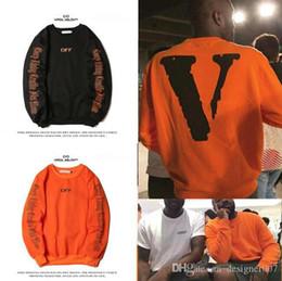 Wholesale Autumn Winter Men's Sportswear Hoodies LONE Men hoodie The New Cotton Sweatshirt for man black oranger two colors