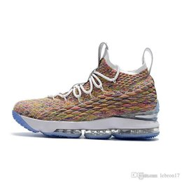 $enCountryForm.capitalKeyWord Australia - Cheap mens lebron 15 basketball shoes for sale Fruity Pebbles youth kids lebrons 16 outdoor sneakers with box size 7 12