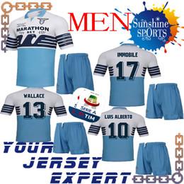 46d5fb489 Special Lazio 2019 Coppa Italia Final men kit soccer Jersey 19 20 Home  adult set LULIC 10 LUIS ALBERTO WALLACE IMMOBILE 2018 shirt