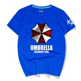 $enCountryForm.capitalKeyWord Australia - Mens O-Neck Cotton Summer Cool Men T-Shirt Resident Evil Umbrella men's hip hop T-shirt top Crewneck Polos High Quality Streetwear