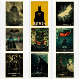 $enCountryForm.capitalKeyWord Australia - Retro Dc Movie Super Hero Batman Canvas Painting Vintage Wall Kraft Posters Coated Wall Stickers Home Decoration Pictures