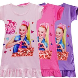 77ae5627a61e0 T shirT dress paTTerns online shopping - 2019 INS Girls jojo T shirt dress  New kids
