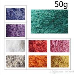 Al por mayor-Mineral Natural Micas Dye Powder Hágalo usted mismo Jabón Tinte Colorante de jabón 50g Polvo de jabón en venta