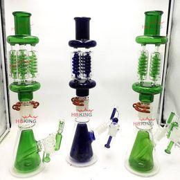 $enCountryForm.capitalKeyWord Australia - 23 INCH Bongs Pure Glass water pipe Dab rigs ZERO X4 DETACHABLE Freezable Glycerin Quad Coil Beaker Bong with Ash Catcher