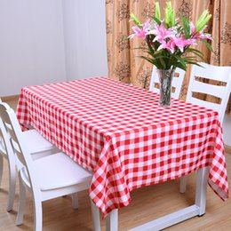 $enCountryForm.capitalKeyWord Australia - Nordic Home Decoration Printed Rectangle Tablecloth Country Style Table Cover Checkered