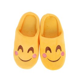 Discount slippers funny - Winter kids Slippers Children Funny Soft Boys Home Kids Baby Girls Cartoon Slippers Indoor Shoes Smiling Face House Shoe