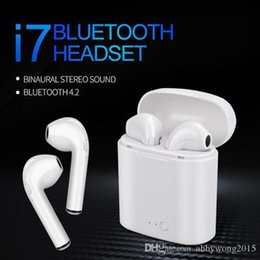 $enCountryForm.capitalKeyWord NZ - New i7s Tws Bluetooth Headset Earbuds Ture Wireless Bluetooth Double Earphone sport Earpieces Stereo Binaural Earphones For All mobile phone