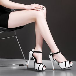 $enCountryForm.capitalKeyWord NZ - Lucky2019 Hollow Code Will Out Hasp Woman Sandals Spelling Color Fish Mouth Thin With High-heeled Young Fund Women's Shoes