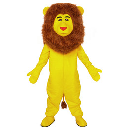 dress lions mascot UK - 2019 High quality Mascot New Yellow lion Mascot Costume Custom Fancy Dress Cartoon Mascot Costume Carnival Costume