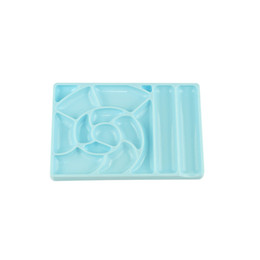 Craft Diy Christmas Gifts Australia - Plastic Paint Tray Palettes Artist Paint Palettes For Diy Craft Professional Art Painting Great Christmas Gift For Friend-Blue N