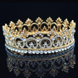 vintage bridal hair jewelry 2019 - Vintage Royal Crystal Queen King Tiaras and Crowns Bridal Headpiece Women Prom Hair Ornaments Wedding Hair Jewelry Acces