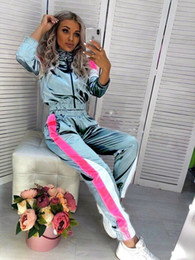 $enCountryForm.capitalKeyWord NZ - New Women Casual Tracksuits Long Sleeve Zipper and Long Pants Two Piece Sets Sport Jogger Suits P803