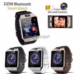 smart watches phones apple NZ - New DZ09 Smartwatch Smart Watch Digital Men Watch Bluetooth SIM TF Card Camera For Apple iPhone Samsung Android Mobile cell Phone
