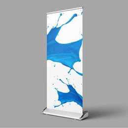 pop up stand banners 2019 - 85*200cm Roll up Flex Banner Stand Teardrop Pop Up Banner Display Stand with Printed Banner Portable Carry Bag cheap pop