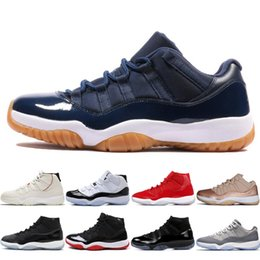 China Platinum Tint High Concord 45 11s Mens Basketball Shoes 11 women Prom Night Legend Blue Bred Cap and Gown Sports Sneakers Trainers 5.5-13 #1 cheap cut out black gowns suppliers