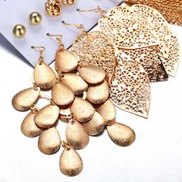 $enCountryForm.capitalKeyWord Australia - Bohemian 6 psc Long Tassel Gold Leaves Drop Earrings Set Multilayer Sequins Pearl Beads Crystal Heart Statement Pendant Stud Earring Hoop Ea