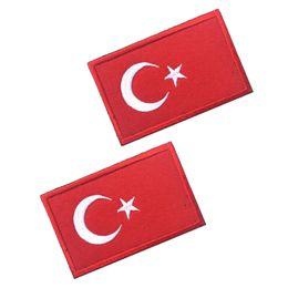 $enCountryForm.capitalKeyWord Australia - Turkey Flag 3D Embroidered Armband Turkish National Soldier Logo Morale Badge Clothing Backpack Hat Jacket Decorative Patch