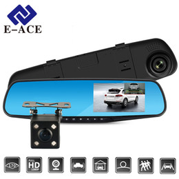 $enCountryForm.capitalKeyWord Australia - E-ACE Full HD 1080P Car Dvr Camera Auto 4.3 Inch Rearview Mirror Digital Video Recorder Dual Lens Registratory Camcorder