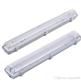 Wholesale LED Vapor Proof Light Fixture with 2X LED T8 led Tubes Waterproof IP54 Shop Light Bar for Garage Basement Industry Fluorescent LightSupport