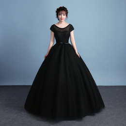 255ceb9d23f7 Short mardi graS dreSS online shopping - 100 real black elegant swan  princess beading lace long