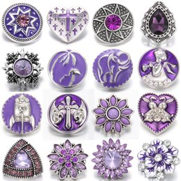 $enCountryForm.capitalKeyWord NZ - Wholesale Snaps Jewelry Buttons Flower 18mm 20mm Snap Buttons Noosa Chunks DIY Charms Interchangeable Jewelry For Snap Bracelets Bangles