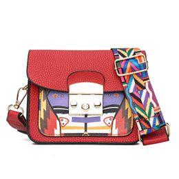 Color Leather Bags Australia - good quality Fashion Wide Shoulder Messenger Bag Summer Pu Leather Patchwork Color Hasp Mini Flap Funny Bag Lady Clutch Handbags