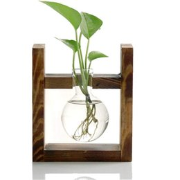$enCountryForm.capitalKeyWord Australia - Glass containers, plant glass containers, modern decorative pots, hydroponic wooden brackets, for home