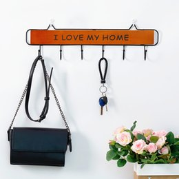 key holders for wall UK - 1 PC Wall Mounted Clothes Hanger 4 5 6 Hooks Hat Key Holder Laundry Coat Rack Hanging Storage Shelf for Home Hangers Coat Hook