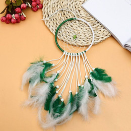 feathers home decor Australia - Home Wall Dream Catcher Style Wind Chimes for Bedroom Decor Wall Hanging Decor for Dream Feather Gift