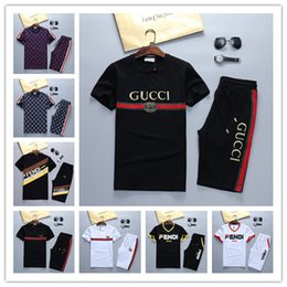 Discount slim kit - 2019 Italy Designer Medusa Sportswear Jackets Set Fashion Running New Men Sports Suit Letter printing Slim Clothing trac