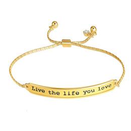 $enCountryForm.capitalKeyWord NZ - ID Bracelets Letter Bracelets Gold Silver Rose Gold Colors Link Chains Bracelet Fashion Jewelry 6 Styles