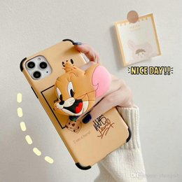 fashion cat iphone case UK - 2020 fashion New IMD Cat and mouse phone case for iphone 11 11pro max Xr XS max X 7 7plus 8 8plus with stand 00