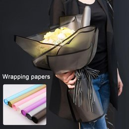 Florist wrap online shopping - 20pcs Flower Packaging Paper Frosted Florist Supplies Handmade Material Bouquet Pack Matte surface Transparent Wrapping Paper MMA1266