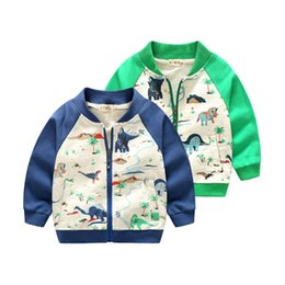 Boys Dinosaur Jacket Australia - 2018 Arrival Clothing For Baby Girls Boys Coat Cartoon dinosaur Printed jacket Autumn Kids Outerwear Children Clothes